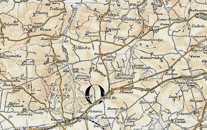 Old map of Inchs in 1900
