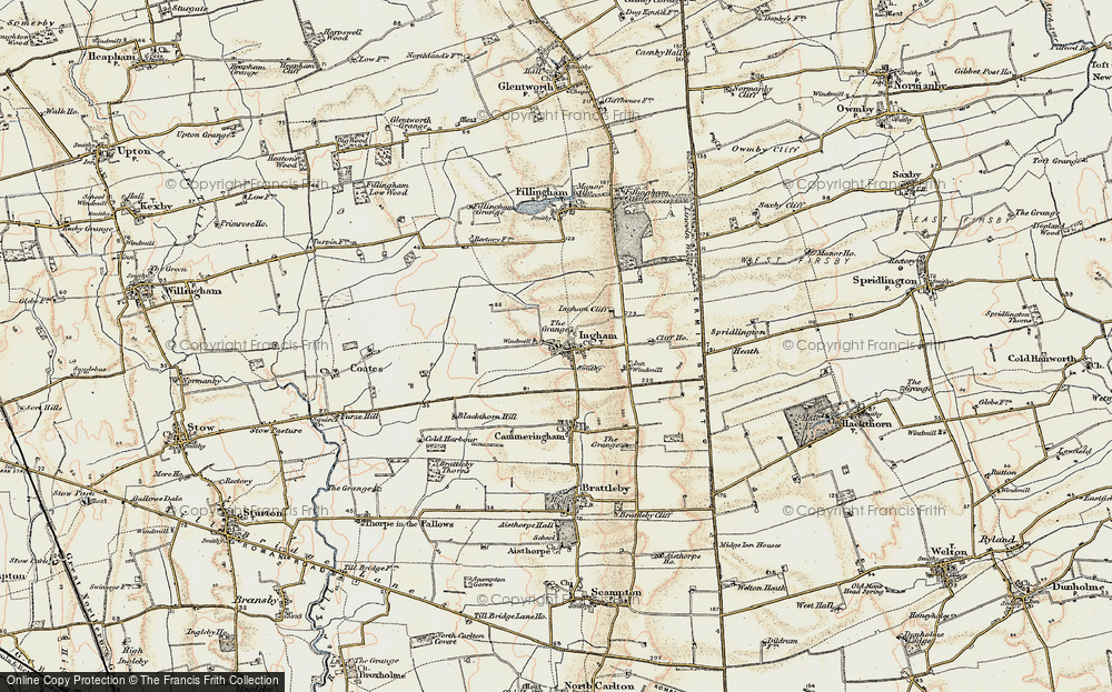 Old Map of Historic Map covering Lincolnshire Rescue Kennels in 1902-1903