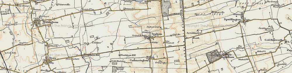 Old map of Ingham in 1902-1903