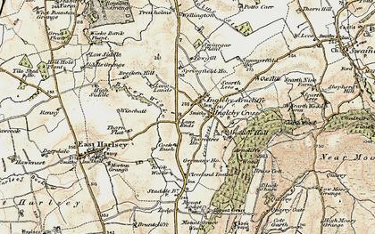 Old map of Winchatt in 1903-1904