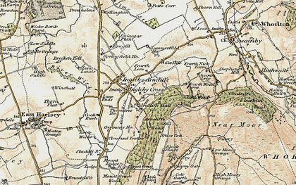 Old map of Ingleby Cross in 1903-1904
