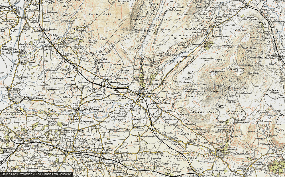 Old Map of Historic Map covering Lead Mine Moss in 1903-1904
