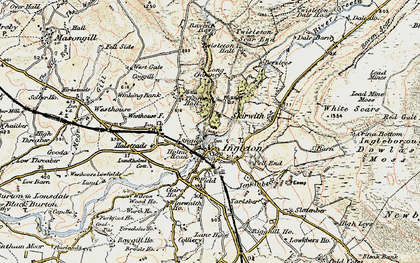 Old map of White Scar Cave in 1903-1904