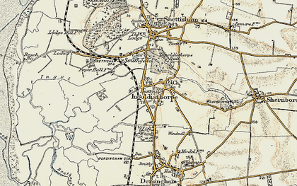 Old map of Ingoldisthorpe in 1901-1902