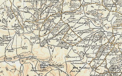 Old map of West Woodhay Ho in 1897-1900