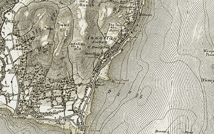 Old map of Achafour Hill in 1905-1906
