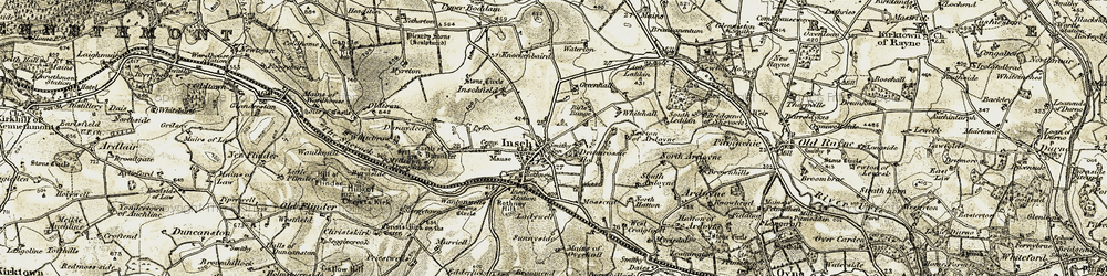 Old map of Whitehall in 1908-1910