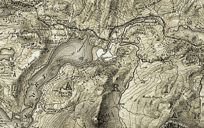 Old map of Am Falachan in 1906-1908