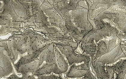 Old map of Lary Burn in 1908-1909
