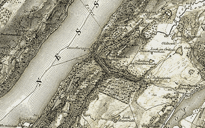 Old map of Balchuirn in 1908-1912