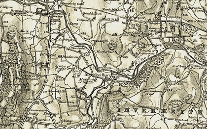 Old map of Wettyfoot in 1910