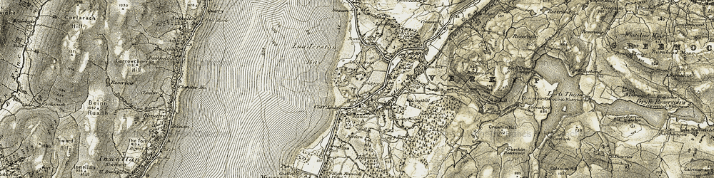Old map of Langhouse (Hotel) in 1905-1906