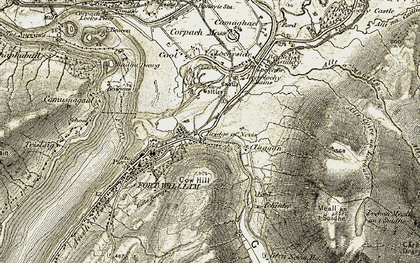 Old map of Inverlochy in 1906-1908