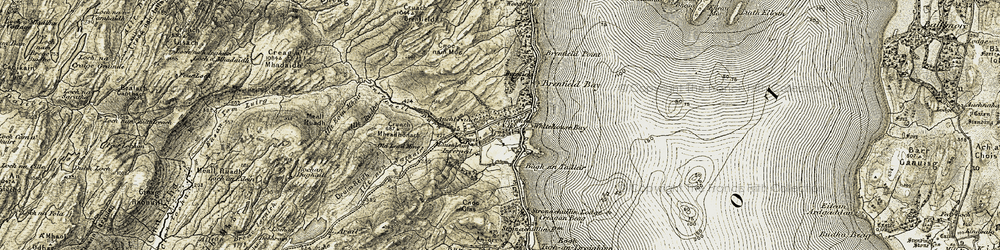 Old map of Allt Rubha in 1905-1907