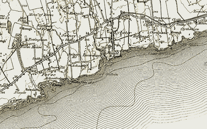 Old map of Leac Gallain in 1911-1912