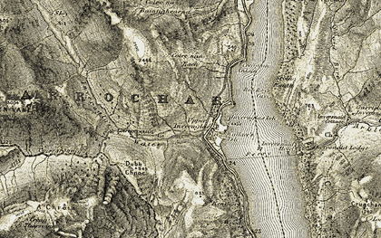 Old map of Tom na h-Innse in 1906-1907