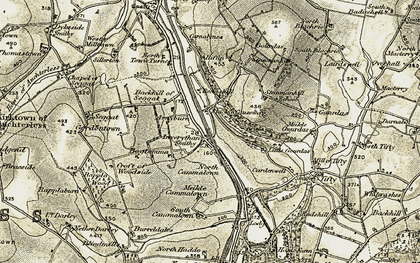 Old map of Backhill of Seggat in 1909-1910