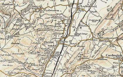 Old map of Worsley in 1902-1903