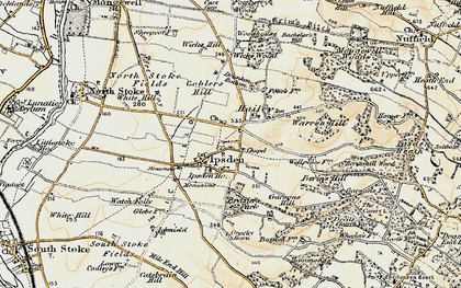 Old map of Wicks Hill in 1897-1900