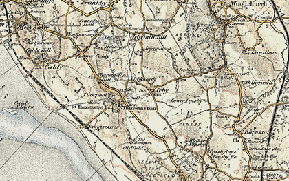 Old map of Irby in 1902-1903