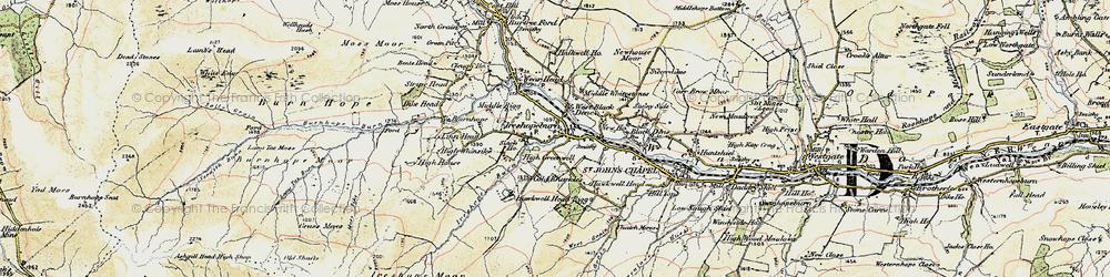 Old map of Ireshopeburn in 1901-1904