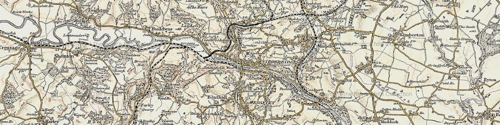 Old map of Ironbridge in 1902