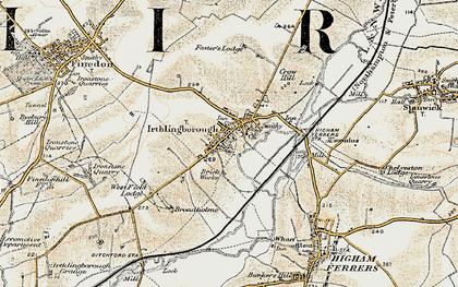 Old map of Irthlingborough in 1901