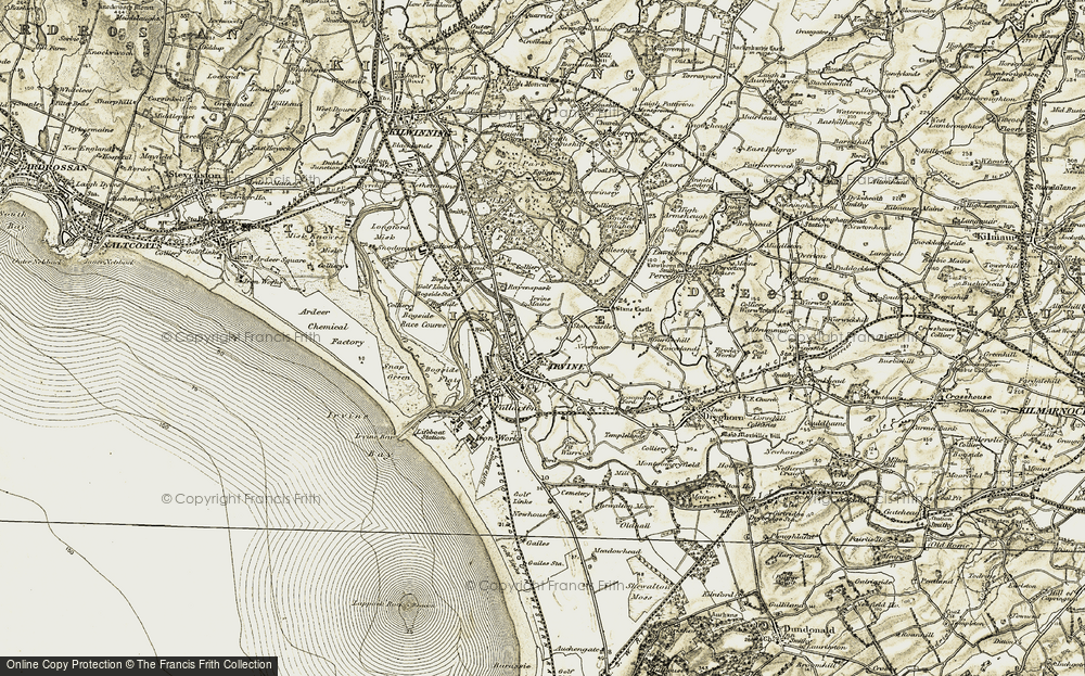 Old Map of Irvine, 1905-1906 in 1905-1906