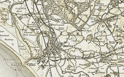 Old map of Irvine in 1905-1906