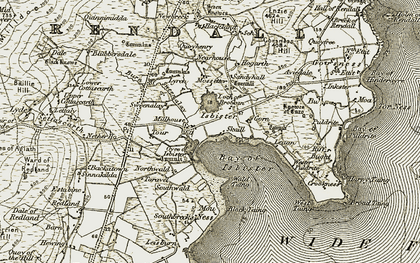Old map of Leuan in 1911-1912