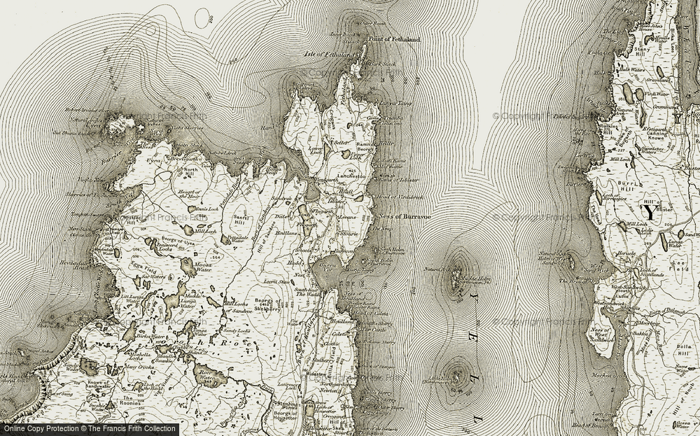Old Map of Historic Map covering Lanyar Taing in 1912
