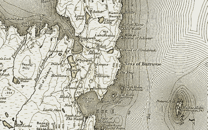 Old map of Leeans in 1912