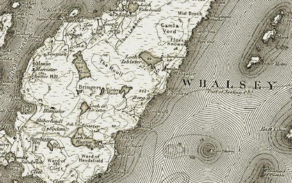 Old map of Whalsay in 1912