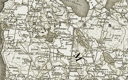 Old map of Isbister in 1912