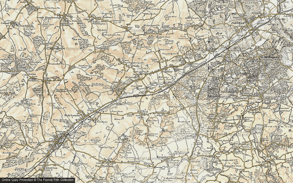 Old Map of Isington, 1897-1909 in 1897-1909