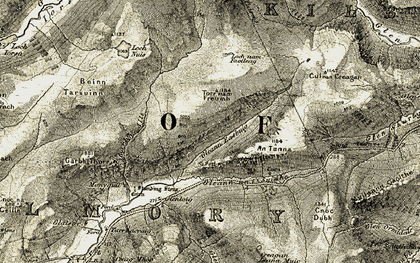Old map of An Tunna in 1905-1906
