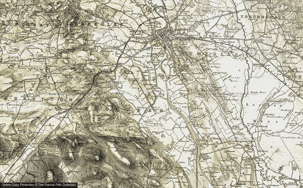 Old Map of Historic Map covering Laneside in 1901-1905