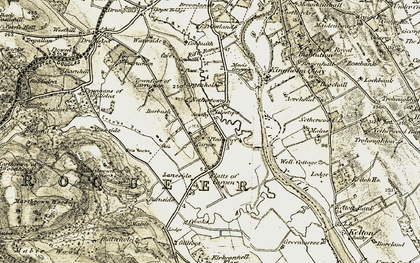 Old map of Laneside in 1901-1905