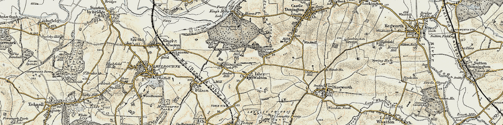 Old map of Ambro Hill in 1902-1903