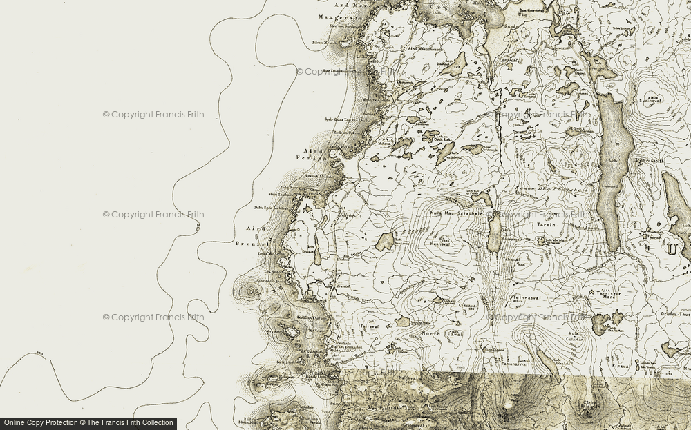 Old Map of Historic Map covering Àird Feinis in 1911