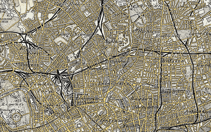 Old map of Islington in 1897-1902