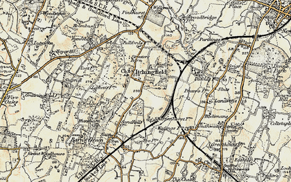 Old map of Toat Hill in 1898