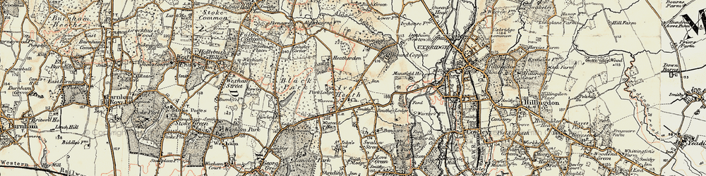 Old map of White Lo in 1897-1909