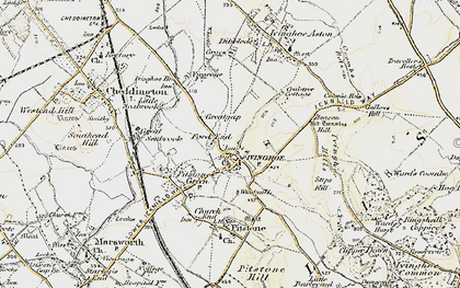 Old map of Whistle Brook in 1898-1899