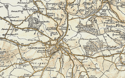 Old map of Wincombe Park in 1897-1909