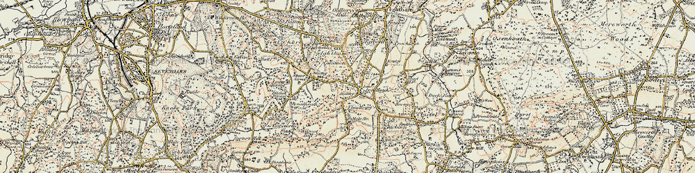 Old map of Ivy Hatch in 1897-1898