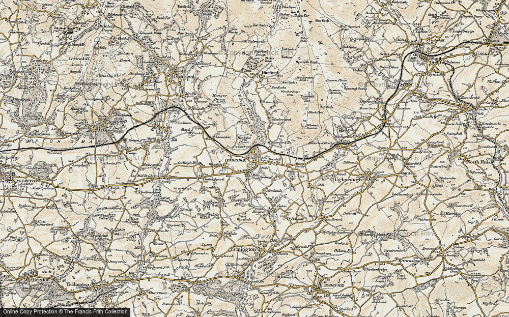 Old Map of Ivybridge, 1899-1900 in 1899-1900