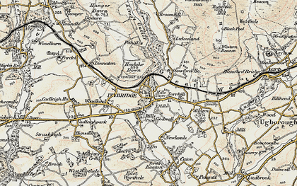 Old map of Yeolands in 1899-1900