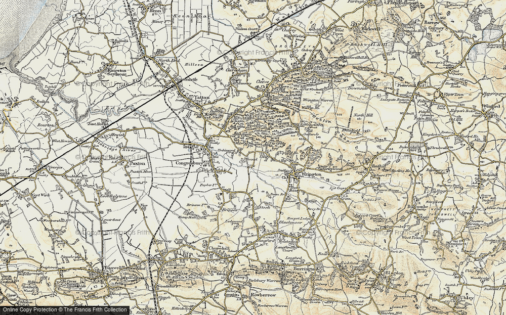 Old Map of Historic Map covering Ball Wood in 1899-1900