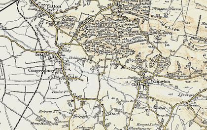 Old map of Woolmers in 1899-1900